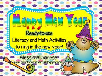 Happy New Year! Ready-To-Use Math and Literacy Centers