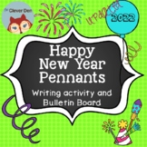 Happy New Year Resolution Writing Activity Pennant (FULL VERSION)