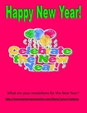 Happy New Year Resolution writing activity