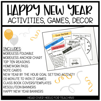Happy New Year Resolutions Pack {Banner, Student Banners, Class Book Templates}