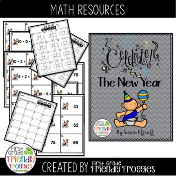 place value happy new year themed scoot add subtract and 10 more 10 less