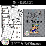 Place Value - Happy New Year Themed - Scoot!  Add, Subtrac