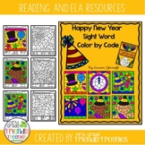 Happy New Year Sight Word Color by Code Sheets