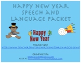 Happy New Year Speech and Language Therapy Packet- New Year's