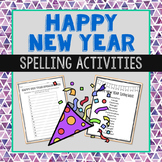 Happy New Year Spelling Bee Class Game, List, and Vocabulary Activities