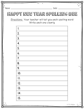 happy new year spelling bee class game list and vocabulary activities. Black Bedroom Furniture Sets. Home Design Ideas