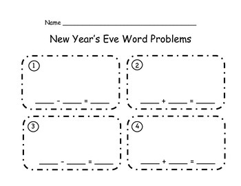 Happy New Year - Story Problems