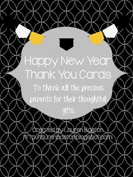 Happy New Year Thank You Cards