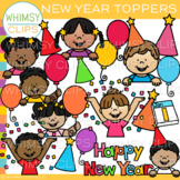 Happy New Year Toppers Clip Art