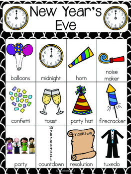 New Year Vocabulary Cards