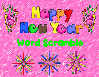Happy New Year Word Scramble