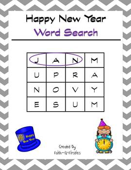 Happy New Year Word Search