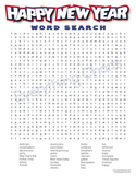Happy New Year Wordsearch