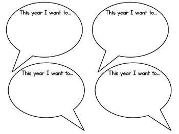 Happy New Year - Writing Craftivity