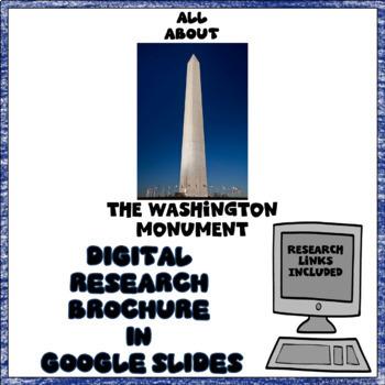 Washington Monument Digital Research Brochure in Google Slides™