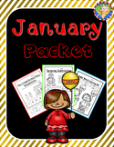 January-New Year's Math and Literacy Packet