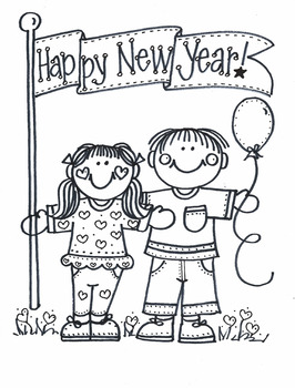 Happy New Year! with kids