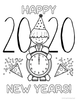 Happy New Years 2020 (boy) Coloring Page by Ironhorse ...