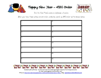 ABC Order {New Year's Theme}