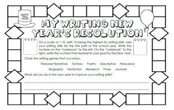 Happy New Years Behavior and Academic Goals Activity