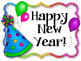 Happy New Year Bulletin Board Set. Party Hats