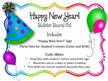 Happy New Year Bulletin Board Ideas 10
