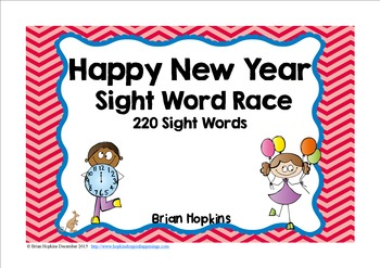 Happy New Years Sight Word Race