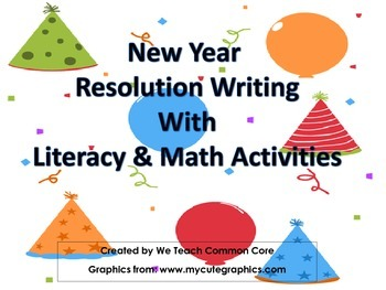 New Years Literacy and Math Station Activities for 2017