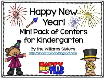 Happy New Year's Mini Pack of Centers for Kindergarten