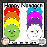 Happy Nonagon Clipart