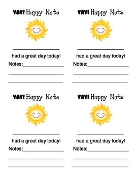 Happy Note - Positive Classroom Management