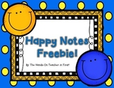 Happy Notes Home: Freebie