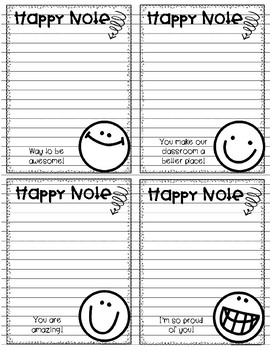 Happy Notes - Postive notes for communicating with parents