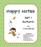 Happy Notes - Set 1 Autumn