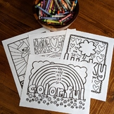 Happy Notes: St. Patrick's Day Coloring Sheet Bundle