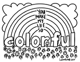 Happy Notes: St. Patrick's Day Coloring Sheet (COLORFUL)