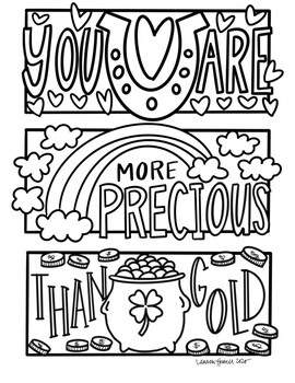 Happy Notes: St. Patrick\'s Day Coloring Sheet (GOLD)