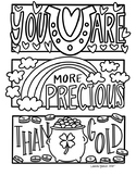 Happy Notes: St. Patrick's Day Coloring Sheet (GOLD)