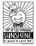 Happy Notes: St. Patrick's Day Coloring Sheet (SUNSHINE)