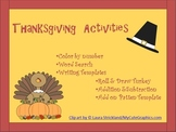 Happy November! a Thanksgiving Activity book
