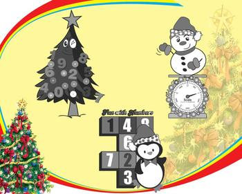 Happy Numbers: Christmas Clipart Pack {Math Clipart}