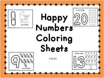 Happy Numbers Coloring Sheets