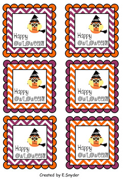 Happy OWLOWEEN Gift Tags