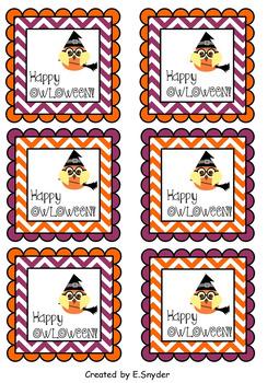 Happy OWLOWEEN Gift Tags
