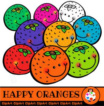 Happy Oranges - Doodle Clip Art