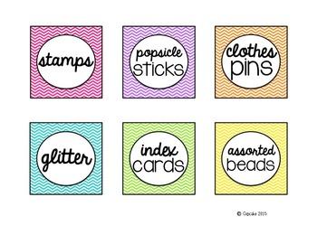 Happy Organized Teacher {Closet & Supply Labels}