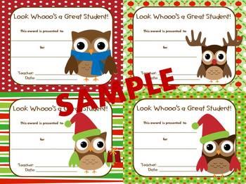 "Happy ""Owlidays"" (Christmas Owl Theme Awards)"
