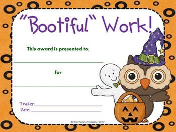 "Happy ""Owloween"" Awards (Halloween Owl Theme Awards)"