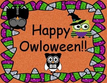Happy Owloween Sign