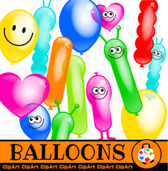 Happy Party Balloon Clip Art